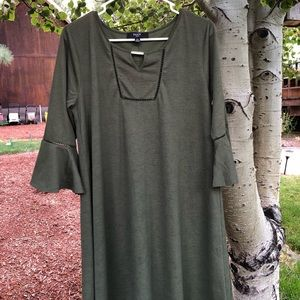 Olive Green Bohemian Style Dress